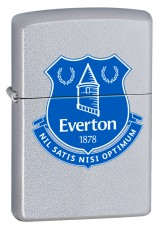 Zippo Classic Satin Chrome Windproof Petrol Lighter Everton FC 205EFC