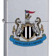 Zippo Classic Satin Chrome Windproof Petrol Lighter Newcastle United FC 205NUFC