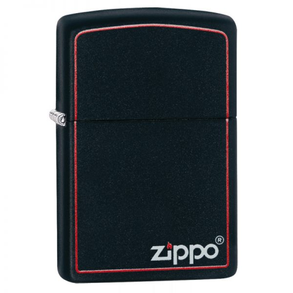 Zippo Classic Black and Red Windproof Petrol Lighter 218ZB
