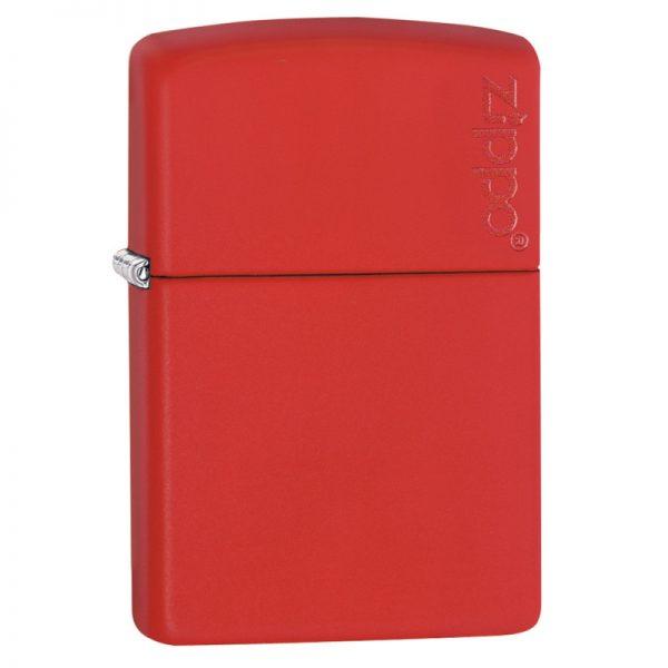Zippo Classic Matte Zippo Logo Red Windproof Petrol Lighter 233ZL