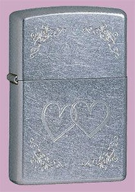 Zippo Engraved Heart to Heart Windproof Petrol Lighter 24016