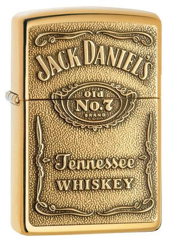 Zippo Classic High Polish Jack Daniel's Windproof Petrol Lighter 254BJD.428