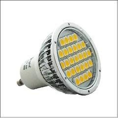 LED GU10 SMD Warm White 24LED 5W=40W