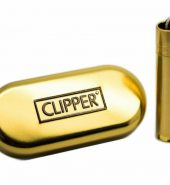 Clipper Metal Gift Gold Flint Lighter (Gift Box)