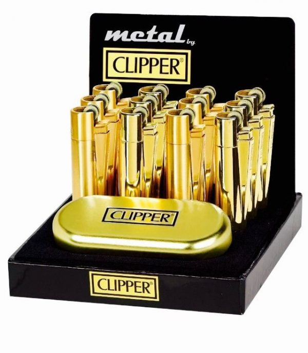 Clipper Metal Gift Gold Flint Lighter (Gift Box)