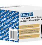 10W LED Flood Light with PIR Sensor White & Black