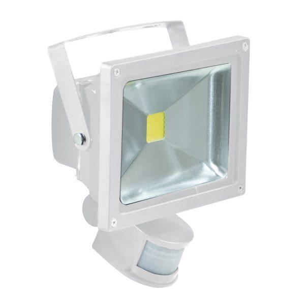 20W LED Flood Light with PIR Sensor White