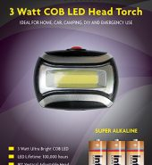 Infapower Cob Head LED Torch 3w