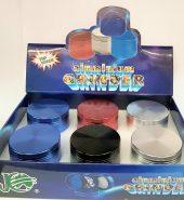 SX50 Magnetic Multi Colour Herb Grinder 4 part 50mm
