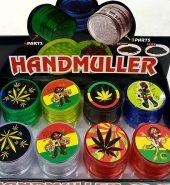 Hand Muller Plastic Herb Grinder 4 part 40mm