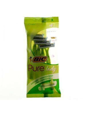 BiC Pure Lady Triple Blade Disposable Razors With Aloevera 4's