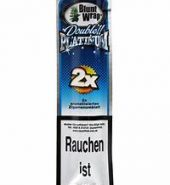 Blunt Wrap Double Platinum Blue – 2 Blunts per Pack