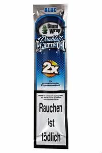 Blunt Wrap Double Platinum Blue - 2 Blunts per Pack