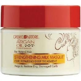 Creme of Nature Argan Oil Moisturizing Milk Masque Repairing Treatment 11.5oz