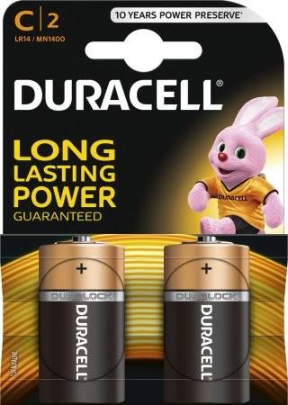 2 x 2pk Duracell Batteries Size C