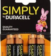 2 x 4pk Simply Duracell Batteries Size AA