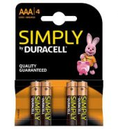 2 x Simply Duracell Batteries Size AAA pack of 4