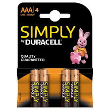 2 x 4pk Simply Duracell Batteries Size AAA