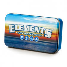 ELEMENT Rolling Papers Printed Tobacco Tin 115mm x 65mm x 25mm