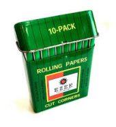 EZEE Green Regular Rolling Papers in Metal Case