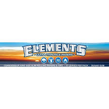 2 x Elements Hemp King Size Slim Rolling Papers Blue