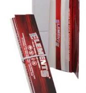 2 x Elements RED Hemp Connoisseur King Size Slim Rolling Papers & Tips