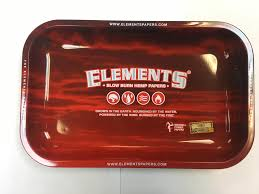 Elements Small Red Metal Rolling Tray 275mm x 175mm