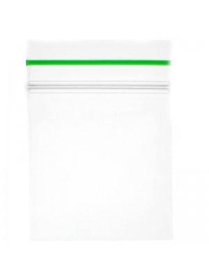Grip Seal Zipper Bag Plain Baggies Clear 80mm x 120mm