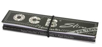 OCB Black King Size Slim + Filters Premium Rolling Papers
