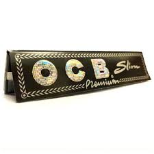 2 x OCB Black Premium King Size Slim Rolling Papers