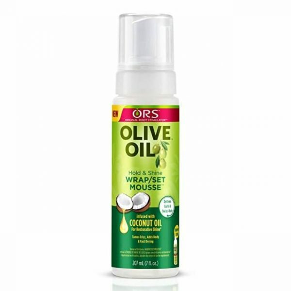 ORS Olive Oil Hold & Shine Wrap/Set Mousse 207ml
