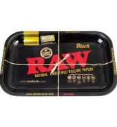 RAW BLACK Medium Metal Rolling Tray 340mm x 280mm