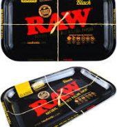 RAW BLACK Small Metal Rolling Tray