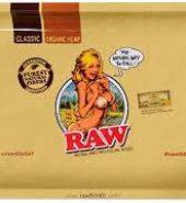 RAW Bikini Girl Small Metal Rolling Tray