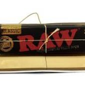 2 x RAW Black Classic King Size Slim Rolling Papers & Tips