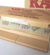 2 x RAW Classic Connoisseur King Size Slim Rolling Papers & Tips