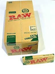 50 x RAW Special Edition Classic Regular Cut Corners Rolling Papers (Copy)
