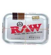 RAW METALLIC Medium Metal Rolling Tray 340mm x 280mm