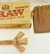 RAW Trident Triple Wooden Cigarette Holder