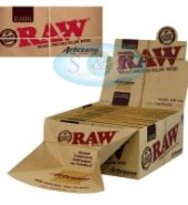2 x RAW Classic Artesano King Size Slim Rolling Papers Tips & Tray