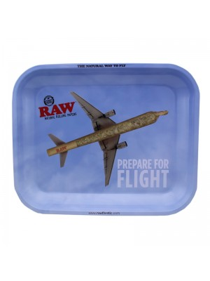 RAW Prepare For Flight Small Metal Rolling Tray