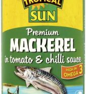 Tropical Sun Mackerel in Tomato & Chilli Sauce 400g