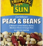 Tropical Sun Tinned Peas & Beans 400g