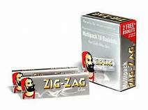 10 x Zig-Zag Silver Regular Rolling Papers
