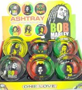 Glass Ashtray – Bob Marley Leaf Design