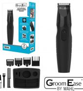Wahl GroomEase Men's Stubble and Beard Trimmer Rechargeable Shaver Grooming Kit