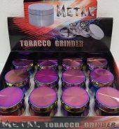 Multi Colour Metallic Icy Herb Grinder 4 part 40mm