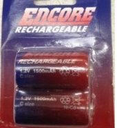 Encore NiCd Rechargeable C / 1500mah R14 1.2v