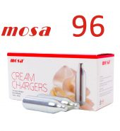 96 x Cream Canisters Chargers Whipped 8g NOS N2O Mosa Dispensers