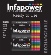 Infapower Rechargeable Batteries C 2500mAh Ni-Mh
